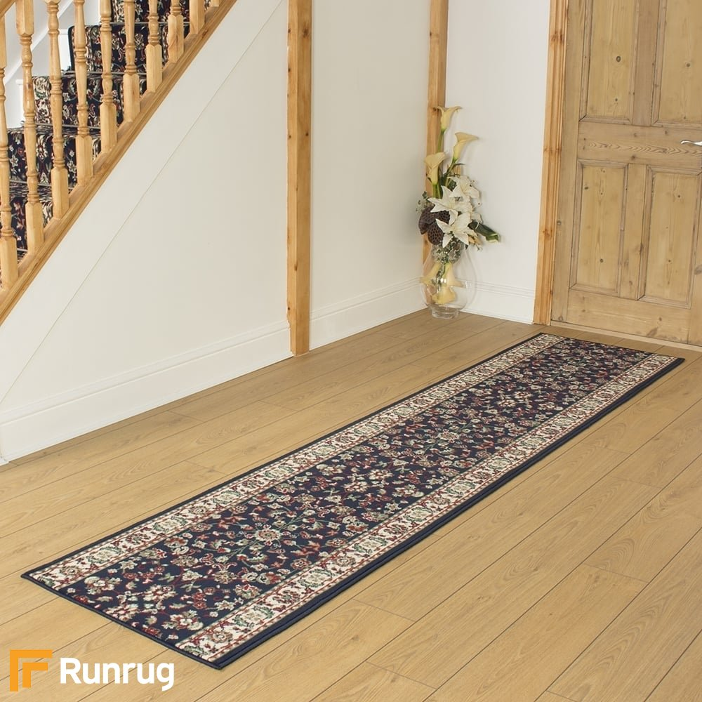 Persian Navy Blue Remnant Length 240cm 7ft 10in X