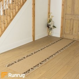 Pin Dot Beige Hall Runner