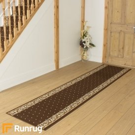 Pin Dot Brown Hall Runner
