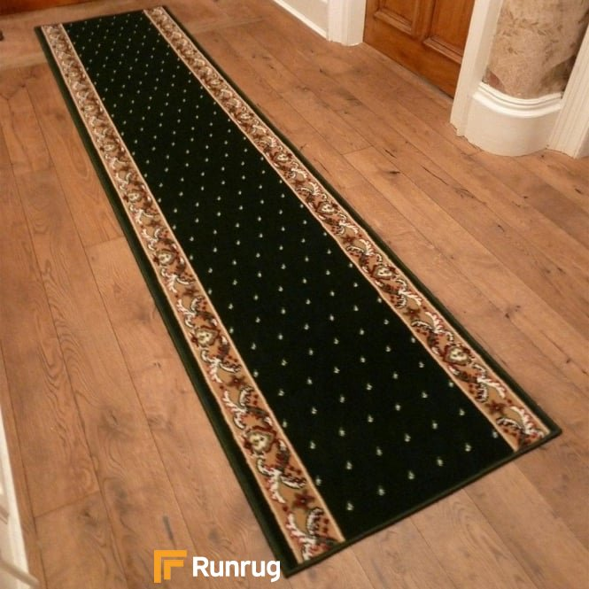Pin Dot Dark Green Hall Runner