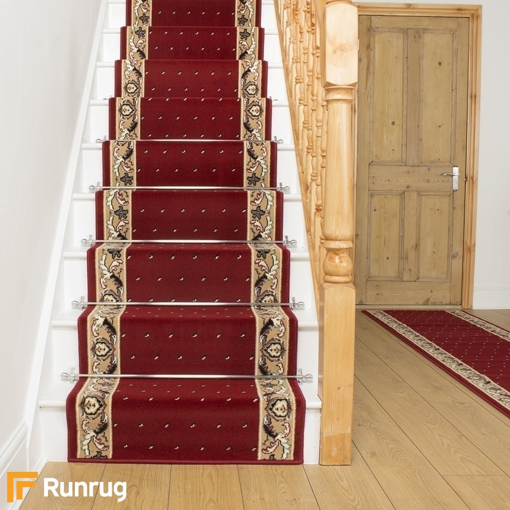 Home & Kitchen Home & Garden Store Pin Dot Red Hall & Stair