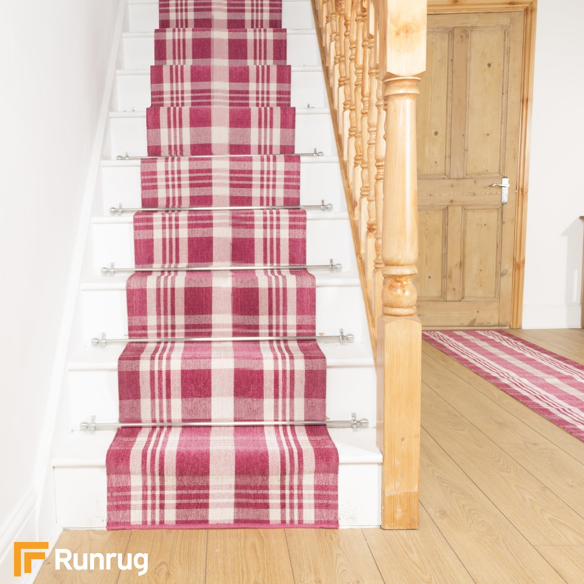 Plaid Pink Stair Runner