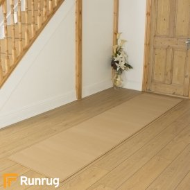 Plain Beige Hall Runner