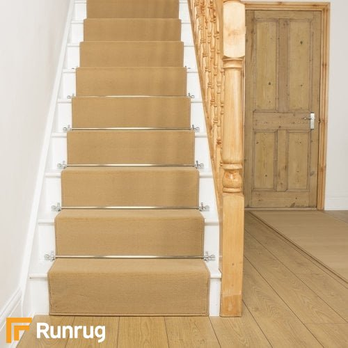 Plain Beige Stair Runner