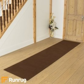 Plain Brown Hall Runner