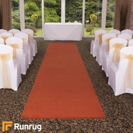 Plain - Coral Red Wedding Aisle Carpet Runner