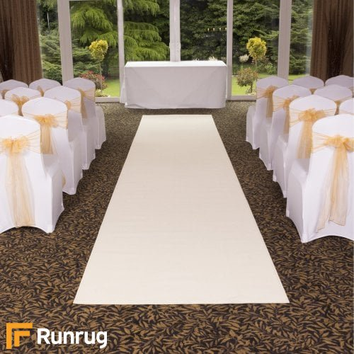 Plain - Cream Wedding Aisle Carpet Runner