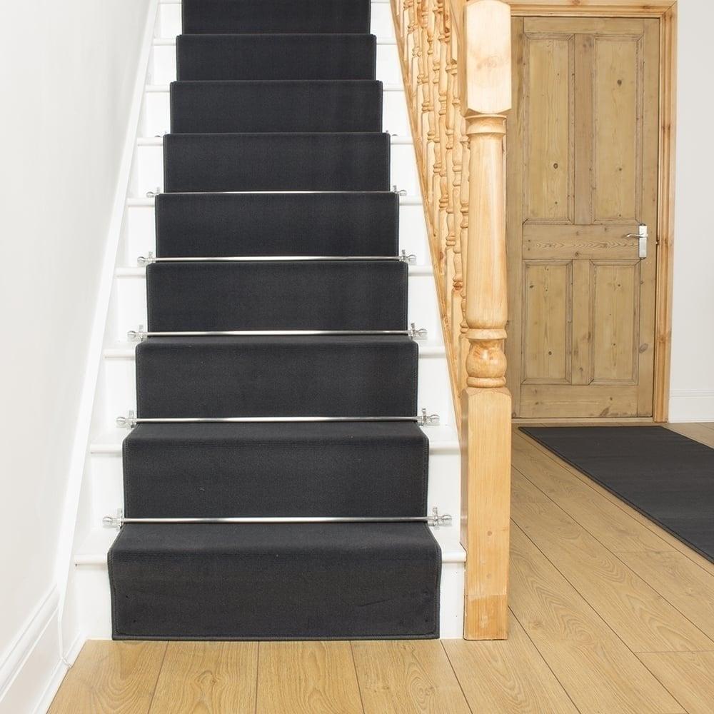 Plain D Gray Stair Runner