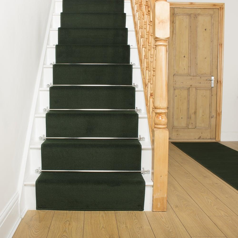 Green Stair Runner Plain