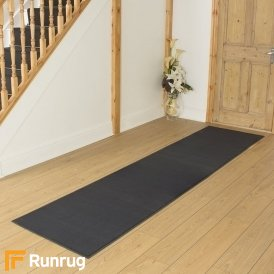 Plain Dark Grey Hall Runner