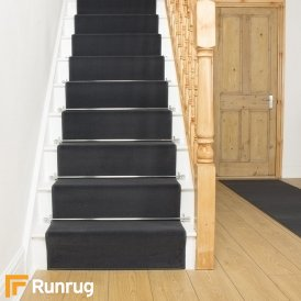 Plain Dark Grey Stair Runner