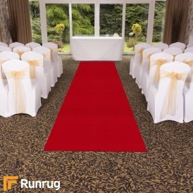 Plain Indoor/Outdoor - Red Wedding Aisle Carpet Runner