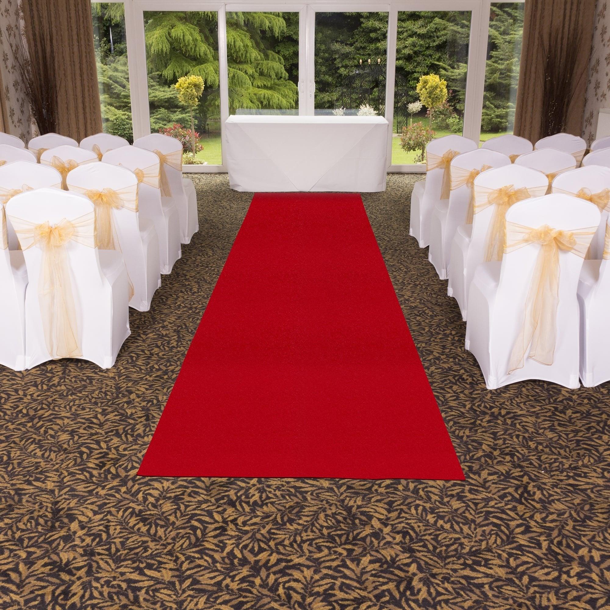 Plain Indoor Outdoor Red Wedding Aisle Carpet Runner At Carpet Runners UK