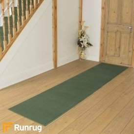 Plain Light Green Hall Runner
