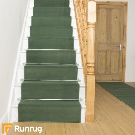 Plain Light Green Stair Runner
