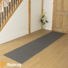 Plain Light Grey Hall Runner