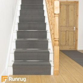 Plain Light Grey Stair Runner