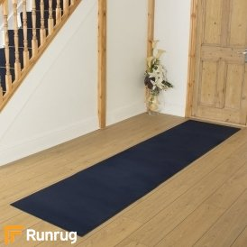Plain Navy Blue Hall Runner