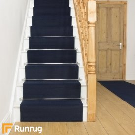 Plain Navy Blue Stair Runner