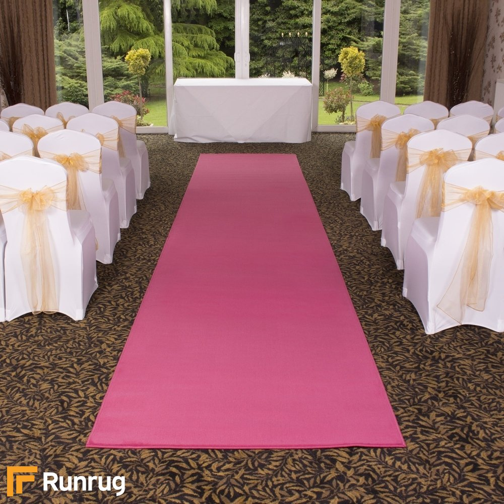 Plain Pink Wedding Aisle Carpet Runner