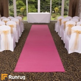 Plain - Pink Wedding Aisle Carpet Runner