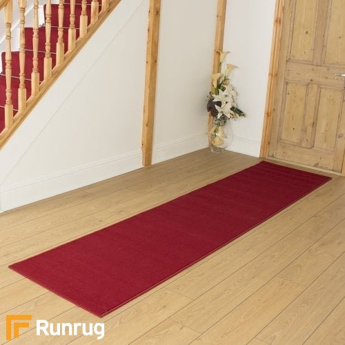 Plain Red Hall Runner