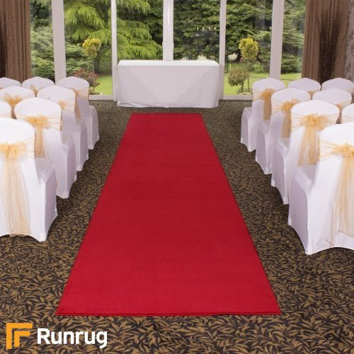 Plain - Red Wedding Aisle Carpet Runner