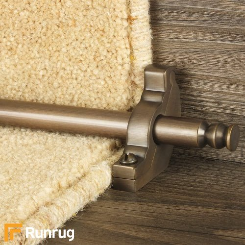 Premier Antique Bronze Finish Balmoral Plain Stair Carpet Runner Rods