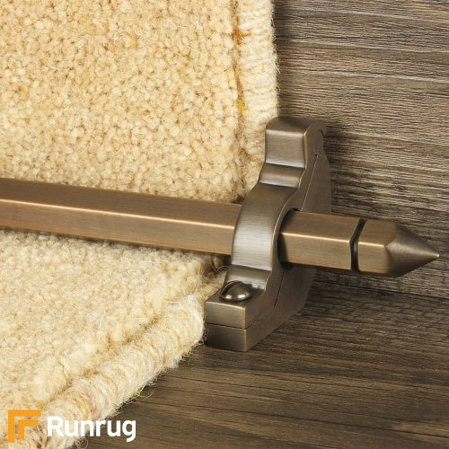 Premier Antique Bronze Finish Hanover Plain Stair Carpet Runner Rods
