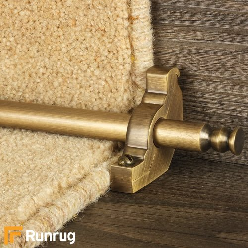 Premier Antique Finish Balmoral Plain Stair Carpet Runner Rods