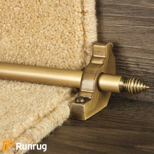 Premier Antique Finish Chatsworth Plain Stair Carpet Runner Rods