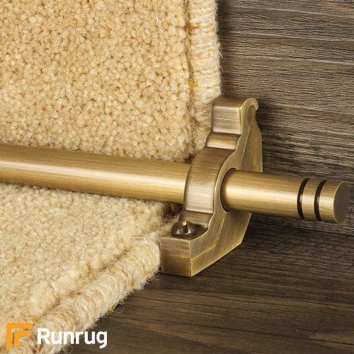 Premier Antique Finish Woburn Plain Stair Carpet Runner Rods
