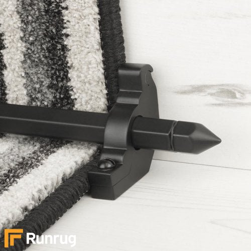 Premier Black Finish Hanover Plain Stair Carpet Runner Rods