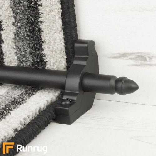 Premier Black Finish Lancaster Plain Stair Carpet Runner Rods