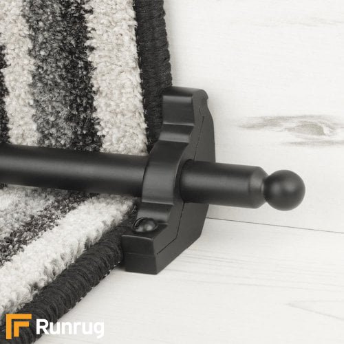 Premier Black Finish Windsor Plain Stair Carpet Runner Rods