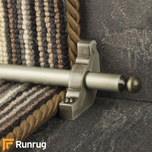 Premier Pewter Finish Windsor Plain Stair Carpet Runner Rods