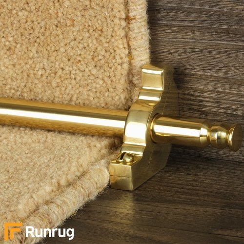 Premier Polished Brass Finish Balmoral Plain Stair Carpet Runner Rods