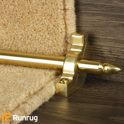 Premier Polished Brass Finish Lancaster Plain Stair Carpet Runner Rods