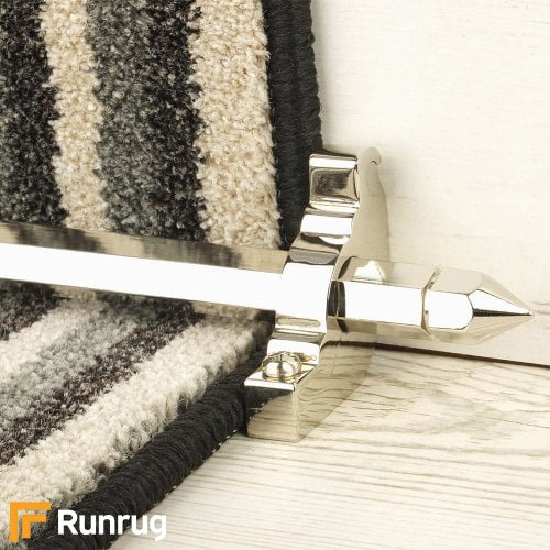 Premier Polished Nickel Finish Hanover Plain Stair Carpet Runner Rods