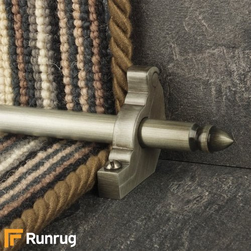 Premier Polished Nickel Finish Lancaster Plain Stair Carpet Runner Rods