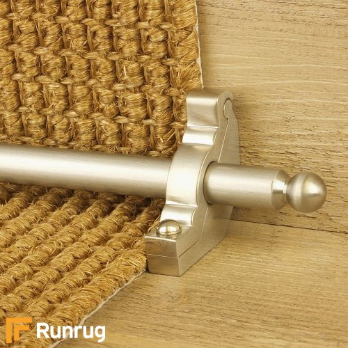Premier Satin Nickel Finish Windsor Plain Stair Carpet Runner Rods