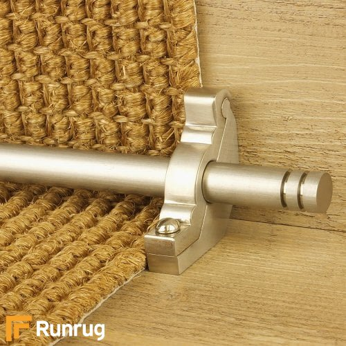 Premier Satin Nickel Finish Woburn Plain Stair Carpet Runner Rods
