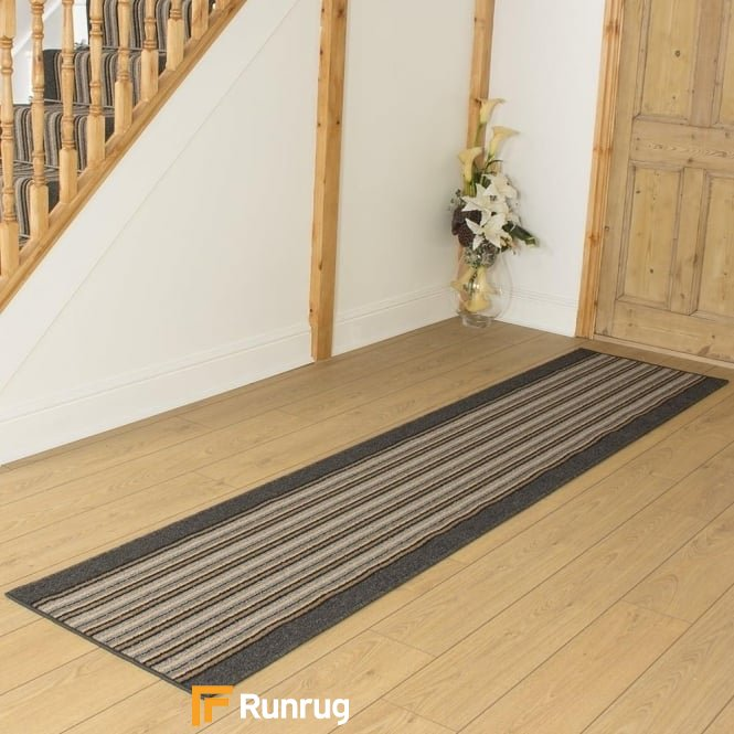 Primos Graphite Stripe Hall Runner