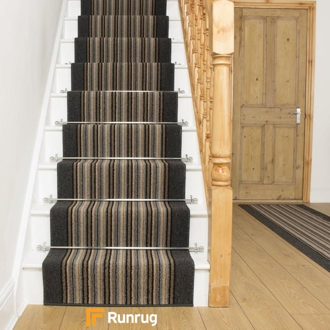 Primos Graphite Stripe Stair Runner