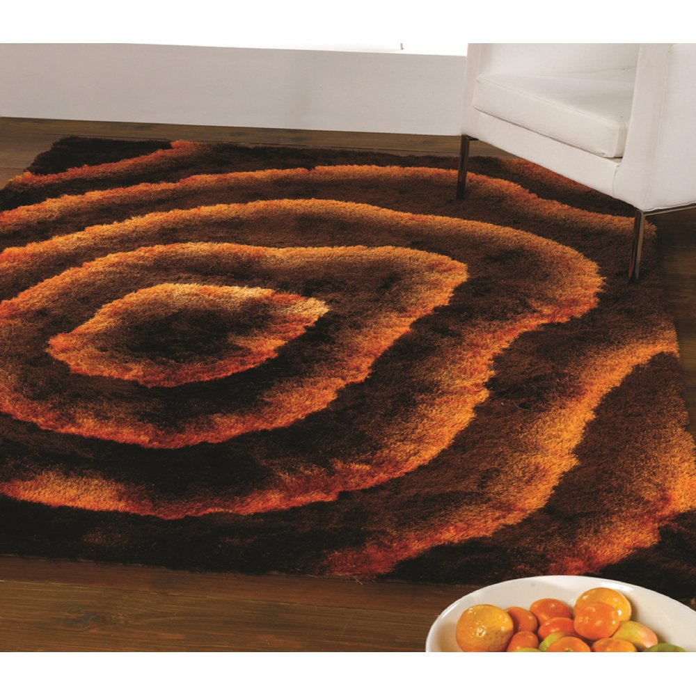 Brown Amp Orange Splendour Deluxe Allure Rug Carpet