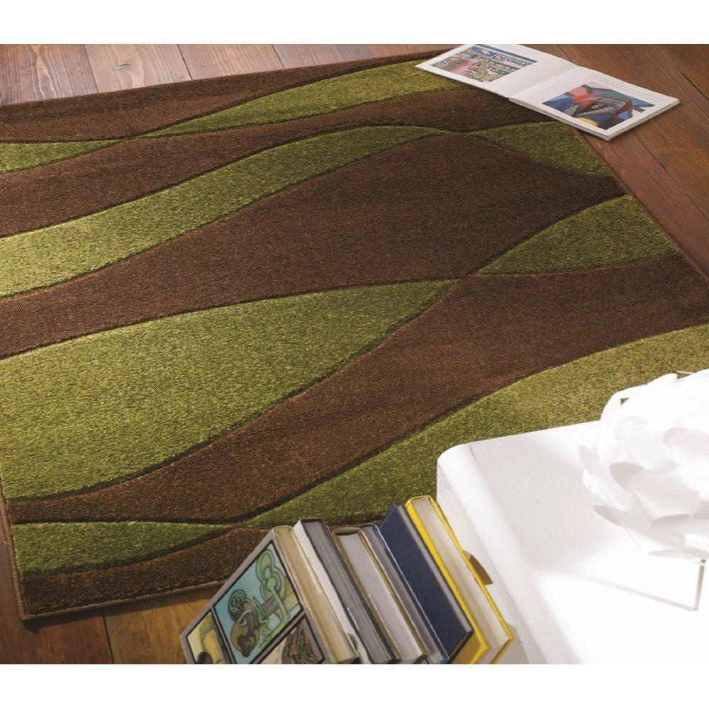 Brown & Green Striped