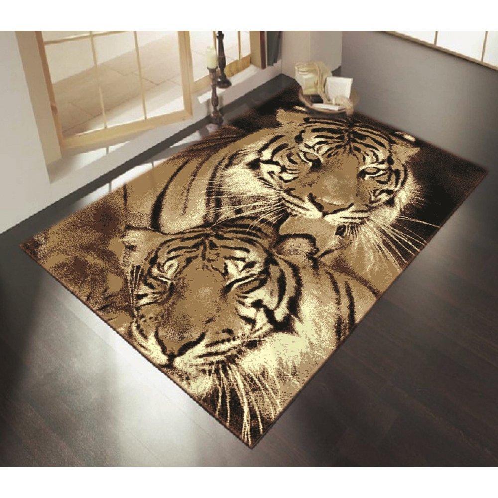Brown Tiger Style Rug