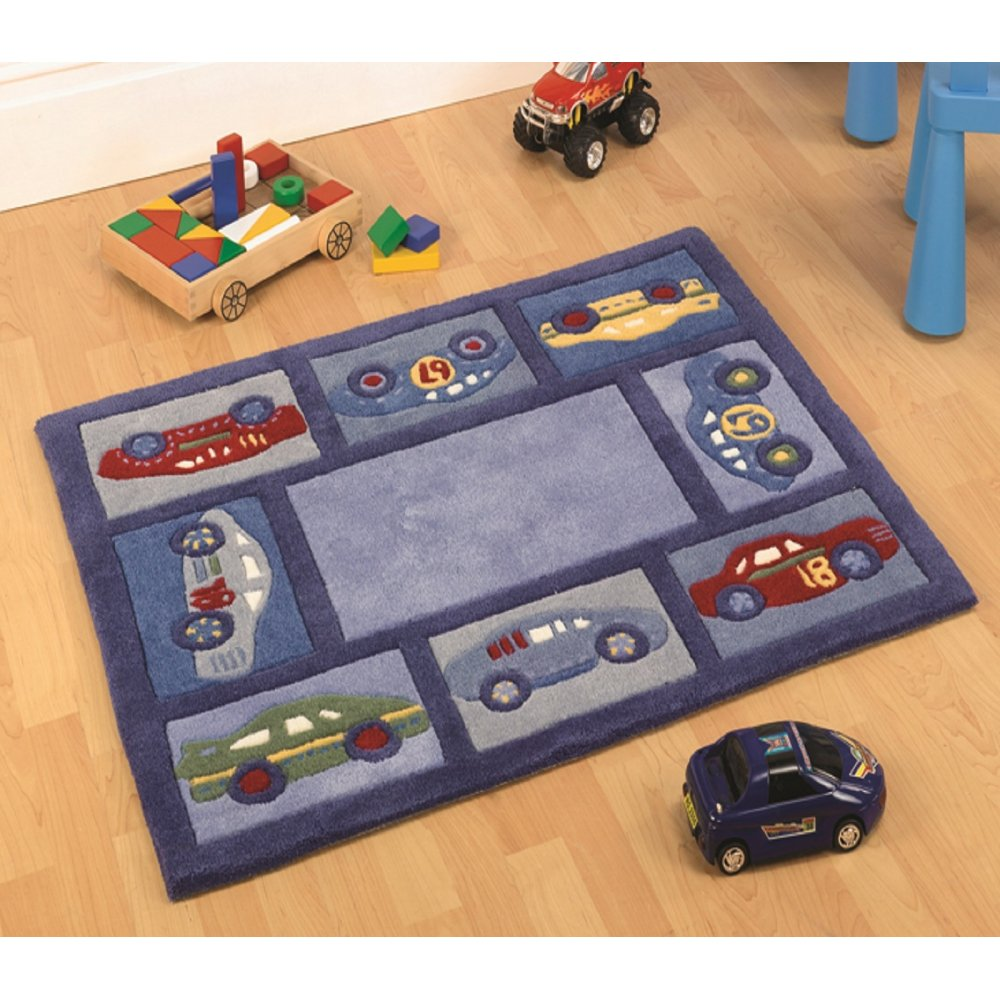 Bedroom Blue Grey White Dark Green Carpet Bedroom Car Bedroom Accessories Black And White Bedroom For Boys: Racing Car Children's Rug