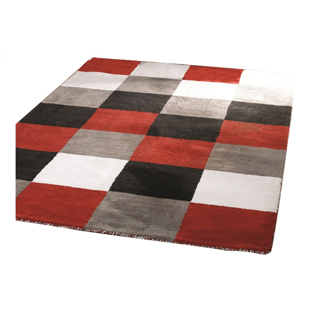 Red And White Checkered Rug: Black,Red, White & Grey Liberty Glade Rug