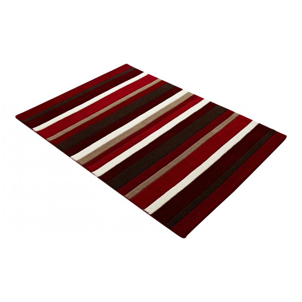 Red Amp Black Striped Wool Rug Carpet Runners Uk